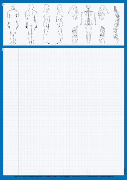 Karteiblätter DIN A4, Papier 80 g/m², blau
