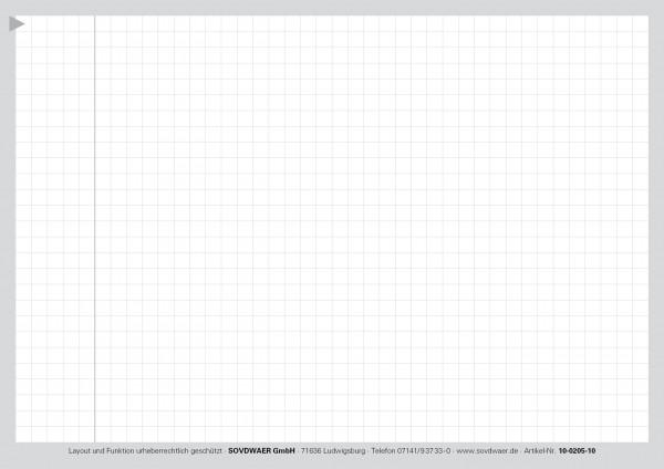 Ergänzungskarte Typ II, A5, Karton 190 g/m², grau