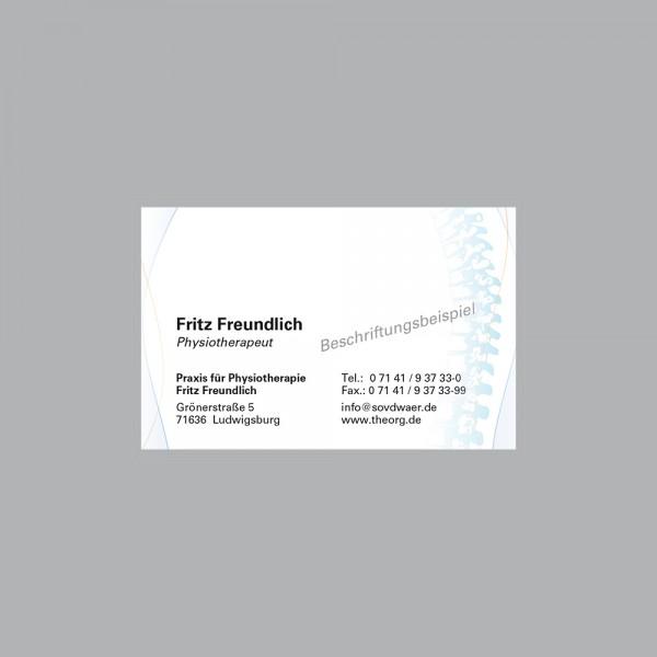 Visitenkarte Wirbelsäule, 1000 Stk., inkl. individueller Druck